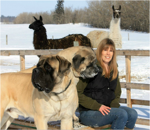 Jennifer Lee with her animals
